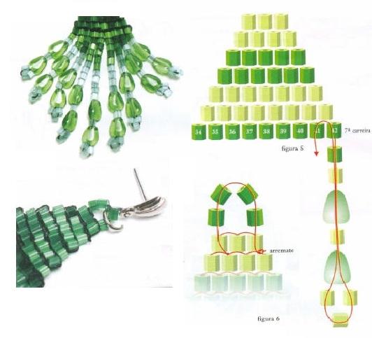 Схема из бисера сережек