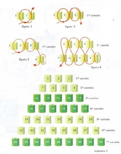 Схема серьги из бисера.