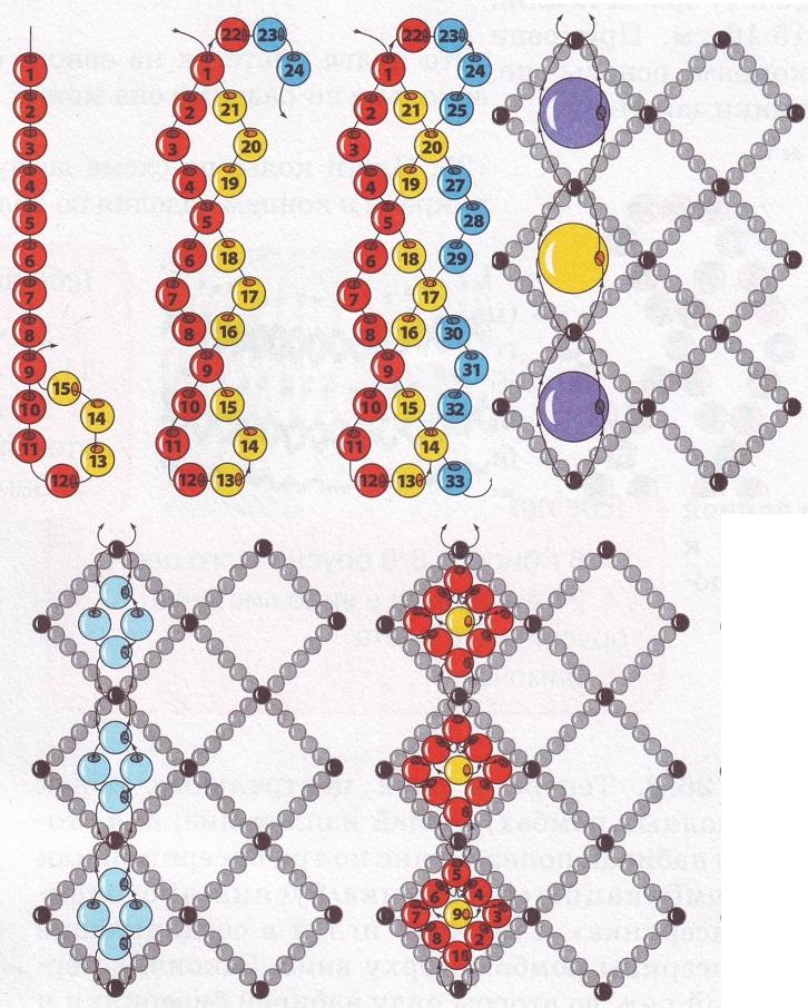 Плетение украшений в технике восьмрка.