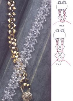 золотой браслет из кристаллов