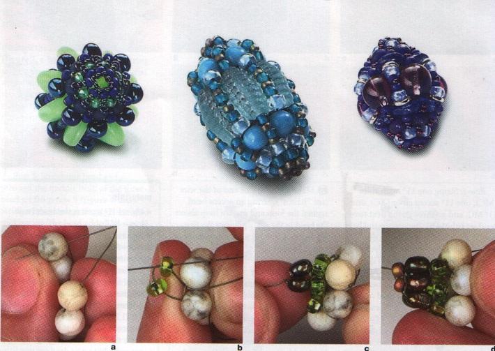 На нашем сайте вы найдете схемы плетения различных украшений из бисера и бусин: колье .  Паучок... и плетения бусин...