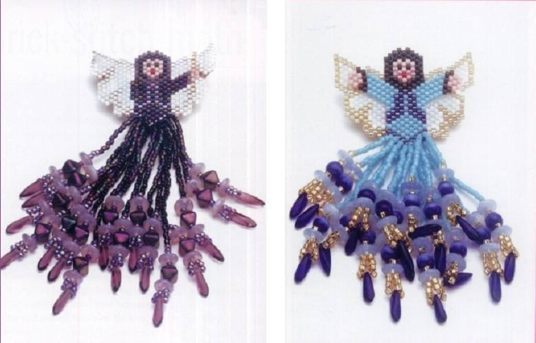 Ангелочки из бисера схема. схемы и описания вязание крючком полуверов.