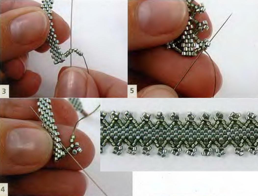 Плетем браслет из бисера видео