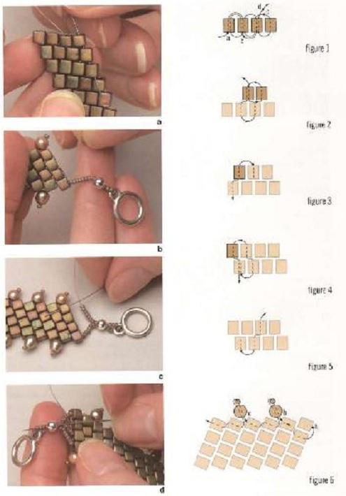 браслеты из бисера схемы плетения для.