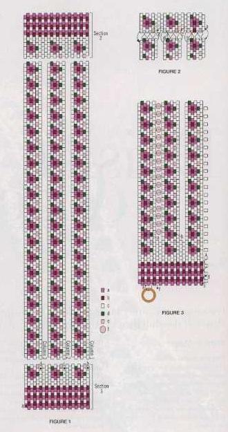 Широкий браслет Схема браслета