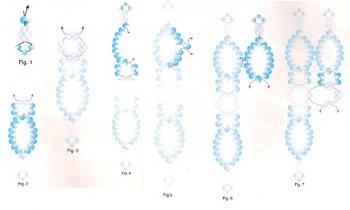 схема плетения широких браслетов из бисера.