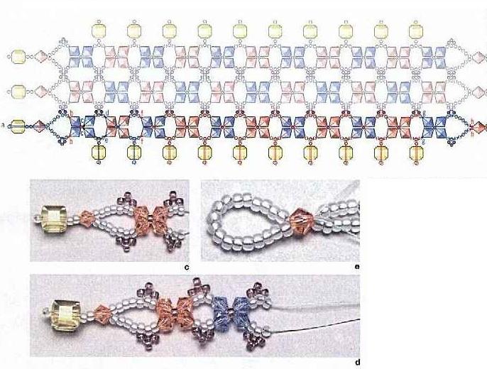 Несколько симпатичных браслетов из бисера и кристаллов.  Первый браслет в сердечко, подойдет к джинсовому и...