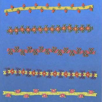 цветные браслеты из бисера