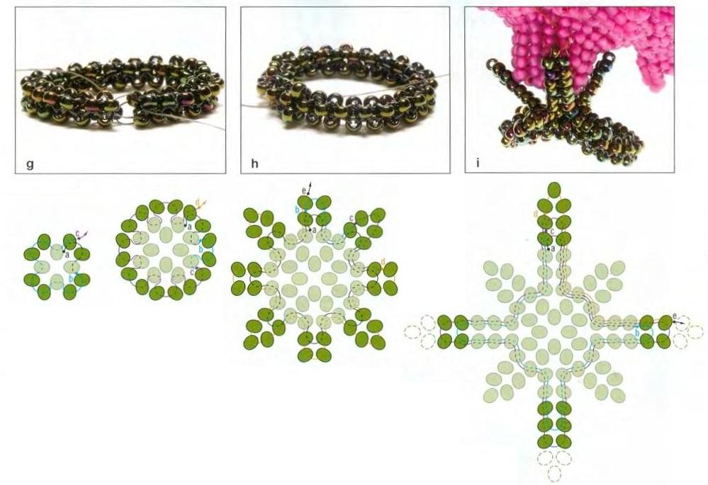 Схема плетения украшения.