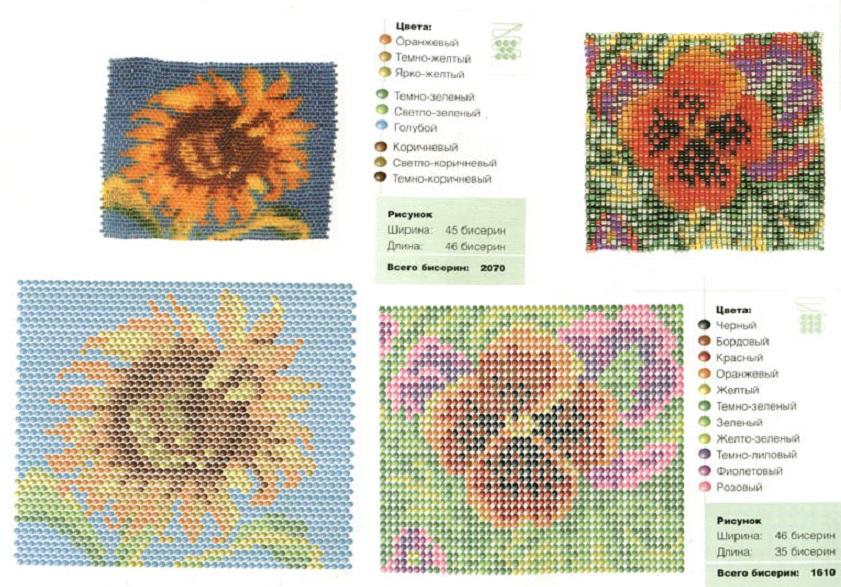 схемы из бисера мозаика картины - Нужные схемы и описания для всех.