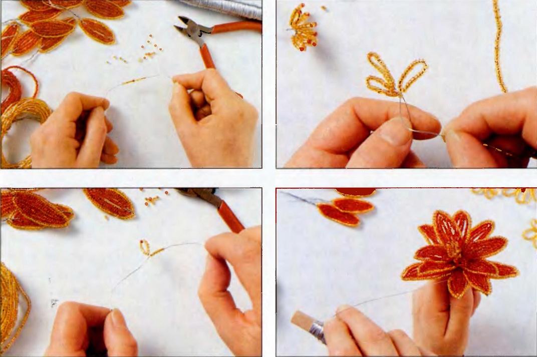 4. Сборка: соедините тычинки