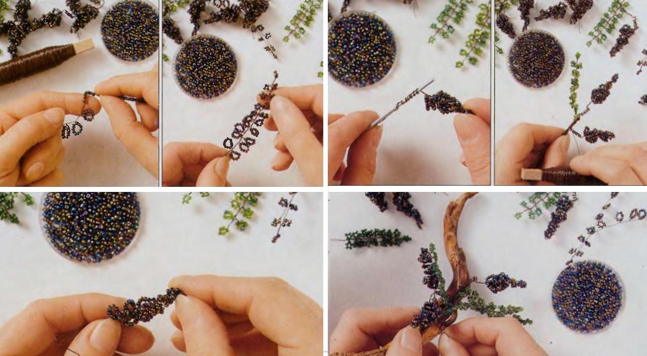 Плетение дерева из бисера.  Бонсай.
