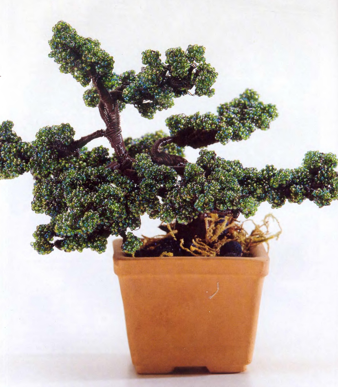 Деревья из бисера -Уроки плетения и изготовления деревьев и миниатюрных бонсаев из бисер, бусин, гипса, бонсай из...