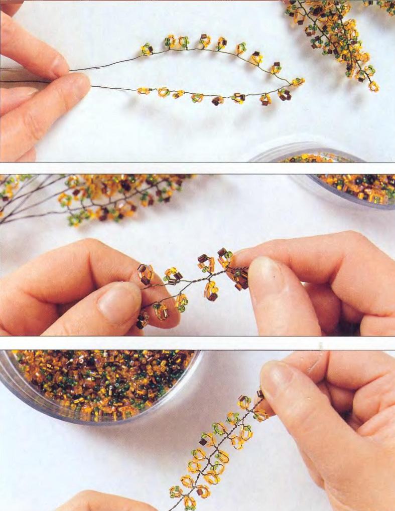 Плетение бонсай из бисера.