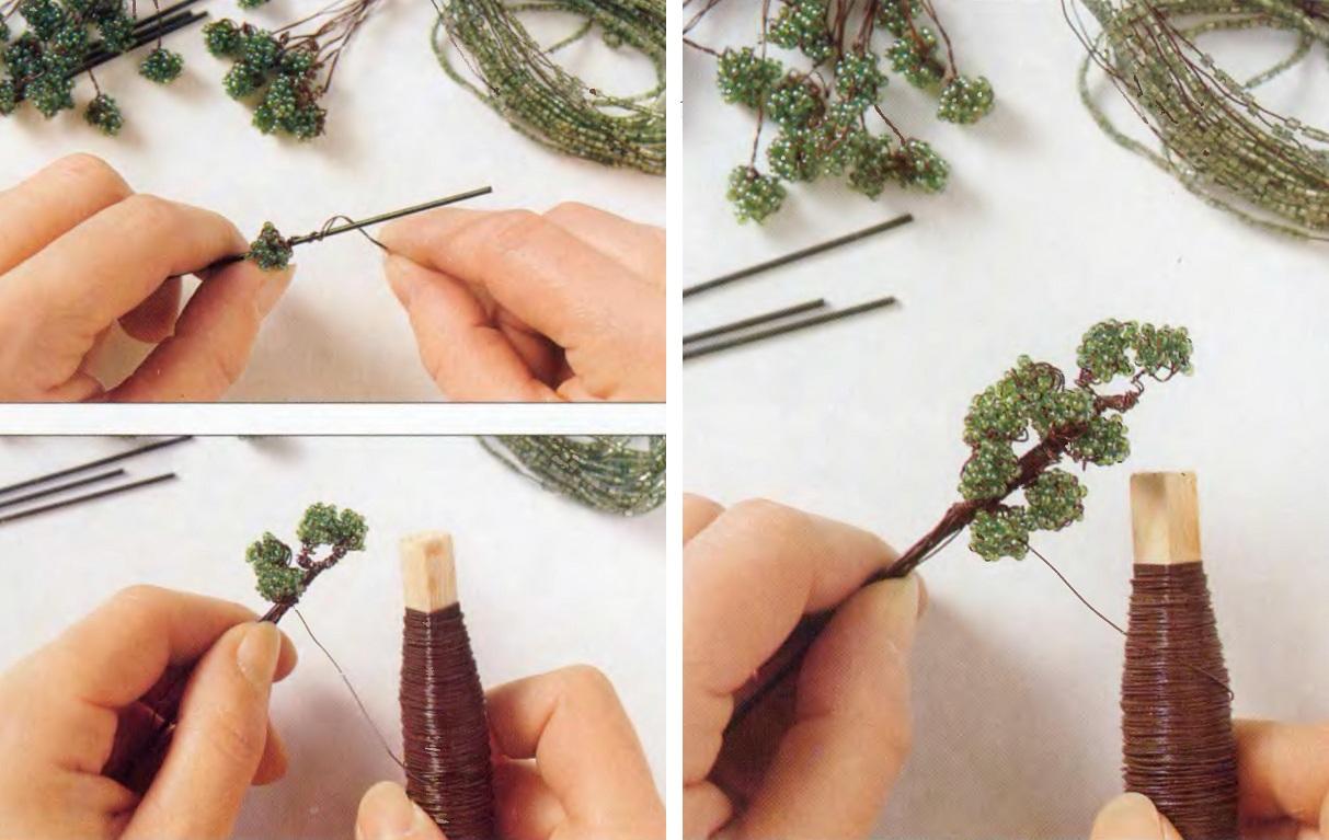 Поделки из бисера - деревья.  Пальма - мастер классы для вас.