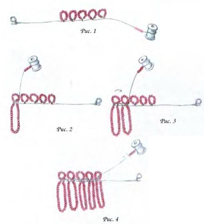 Главная :: Бисероплетение :: Фиалка из бисера.  МК .  Способ плетения - ручное ткачество (подробное.