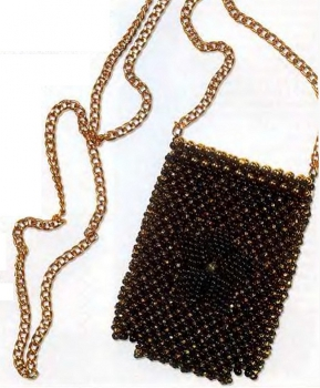 сумочка из бусин для мобильного телефона
