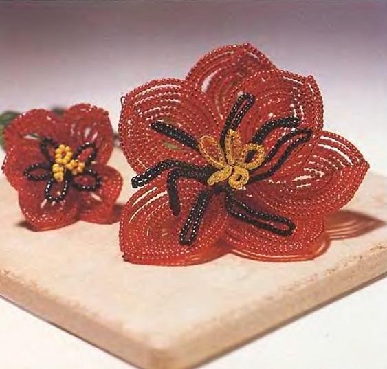 Схемы цветов из бисера скачать