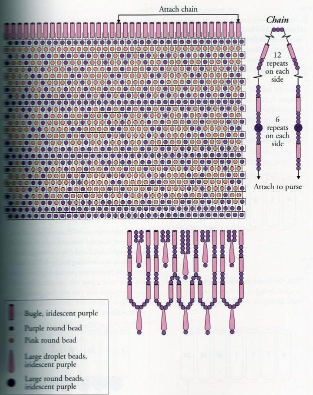 Вязание бисером кошелек схема 441