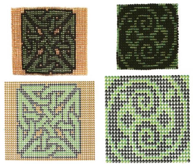 цветы и деревья из бисера схемы круговое плетение.
