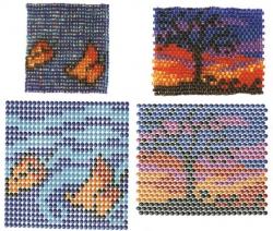 Огромное количество красивых и интересных узоров для плетения сумочек-амулетов или сумочек для мобильных телефонов.
