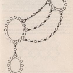 схема колье из бисера с бирюзой. схема плетения колье с бирюзой.