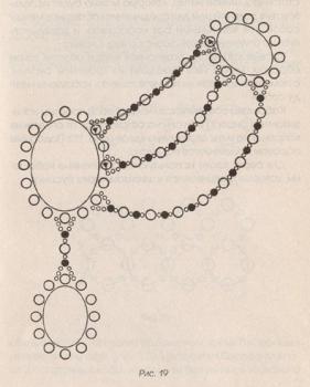 схема колье из бисера с бирюзой