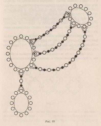 схема колье из бисера с