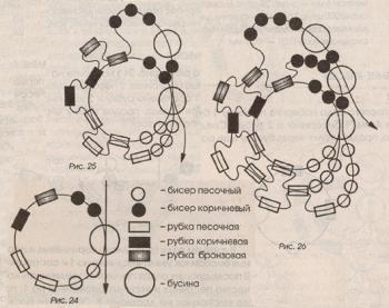 плетем спиральный жгут из бисера