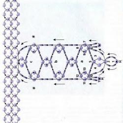 схема ажурного украшения из бисера