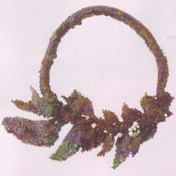 украшение из бисера в стиле рококо. ожерелье из бисера рококо.