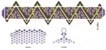 Схема браслета из бисера