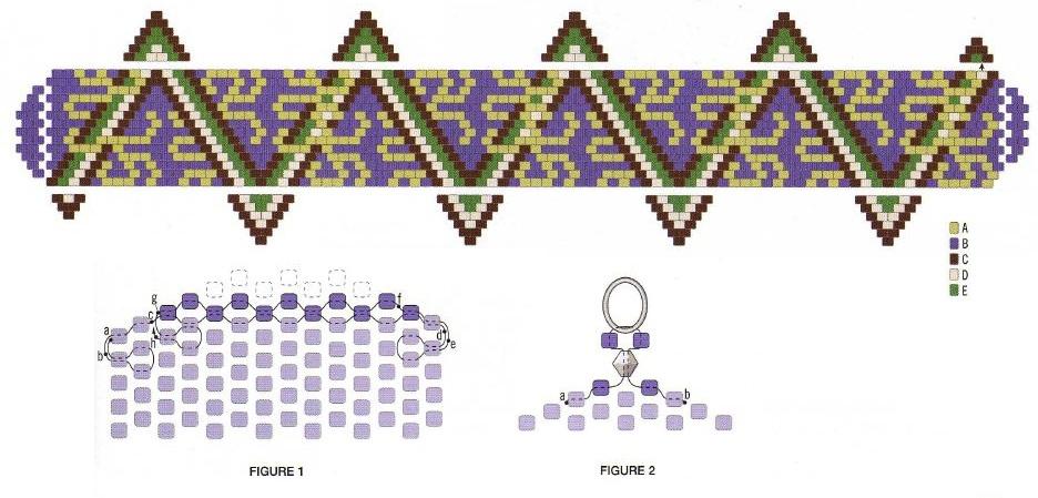 """браслет из бисера схема зигзаг Ru - коллекция бесплатных схем изделий из бисера  """"Бисер - это маленькие шарики с..."""