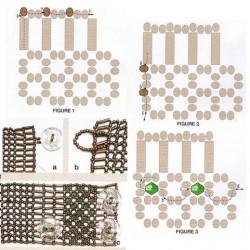 Схема плетения браслета. Бисер