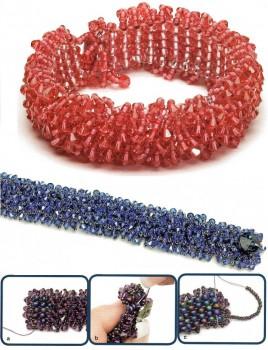 красный и синий браслет