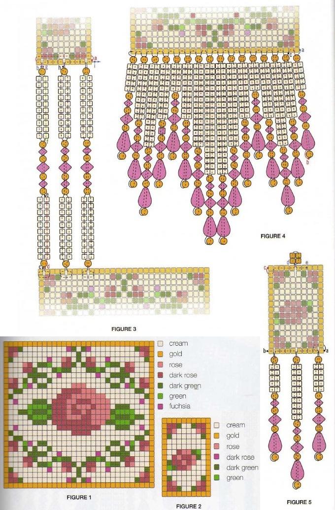 Схема плетения украшения из