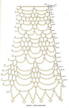 Схема колье. Бисер