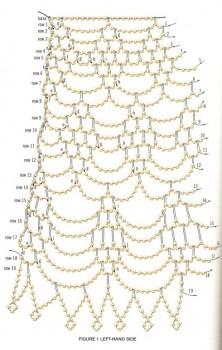 Схема плетения колье. Бисер