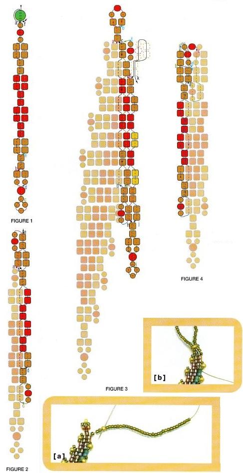 Большое разнообразие сочетания разных цветов бисера.  Подробная и понятная схема плетения украшений.