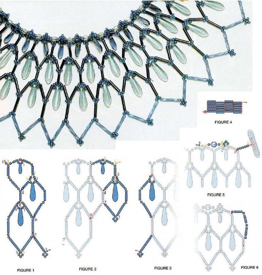 Украшения из бисера схемы плетения колье л гкие Вещи из бисера.