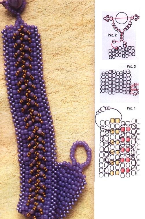 браслеты схемы из бисера самые красивые - Лучшие схемы и описания для всех.