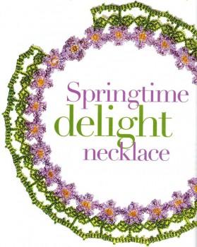 """Украшение из цветов.  Колье из бисера  """"Весенние цветы """".  Состоит из цветочков.  Подробная схема плетения колье, для..."""