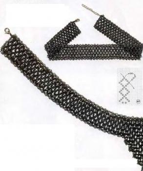 плетем украшения из серого бисера