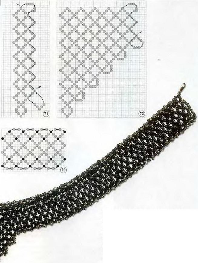 Для работы потребуются: серый металлический бисер 11 - 30 г, бисер серебряного цвета 11 - 20 г. капроновые нитки...