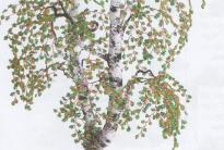 дерево береза сплетенная из бисера