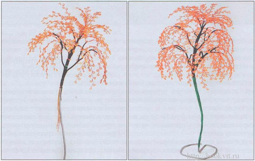 дерево березы из бисера
