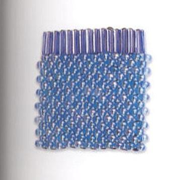 """Техника плетения из бисера  """"гобелен """".  1. Закрепите стоп-бусину, наберите две первые бусины первого ряда."""