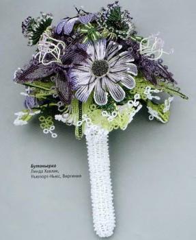 Букет свадебный из бисера