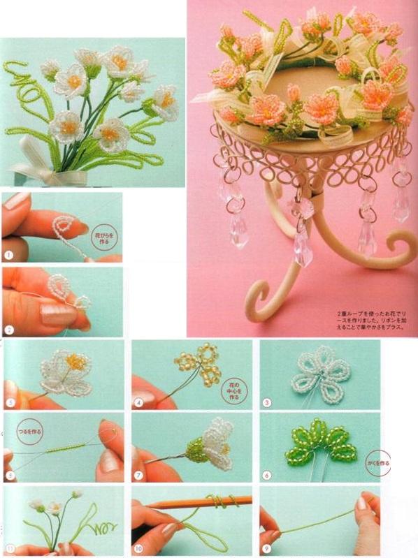 мастер-класс плетения цветов из бисера