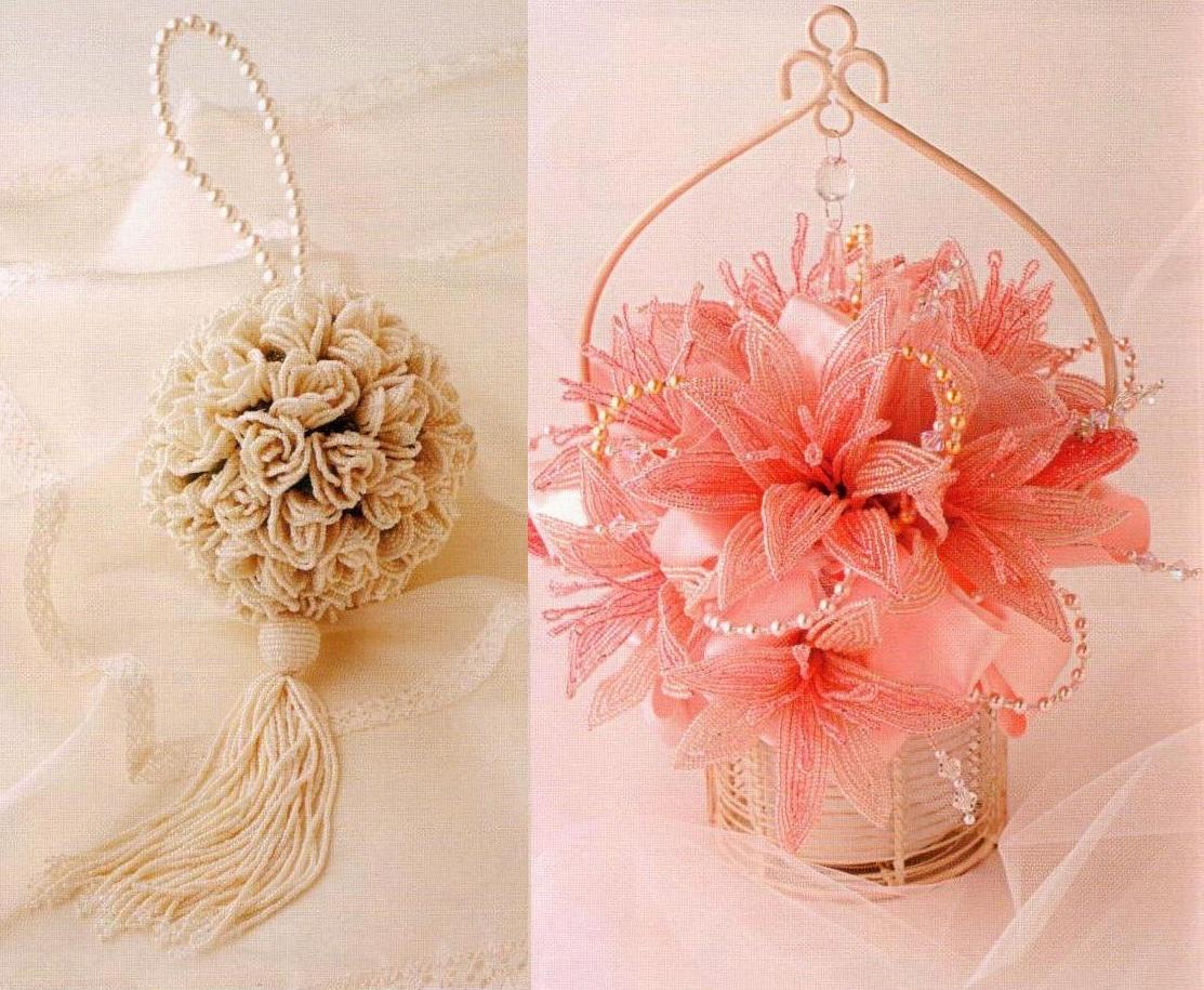 красивые букеты сплетённые из бисера. букеты из цветов.